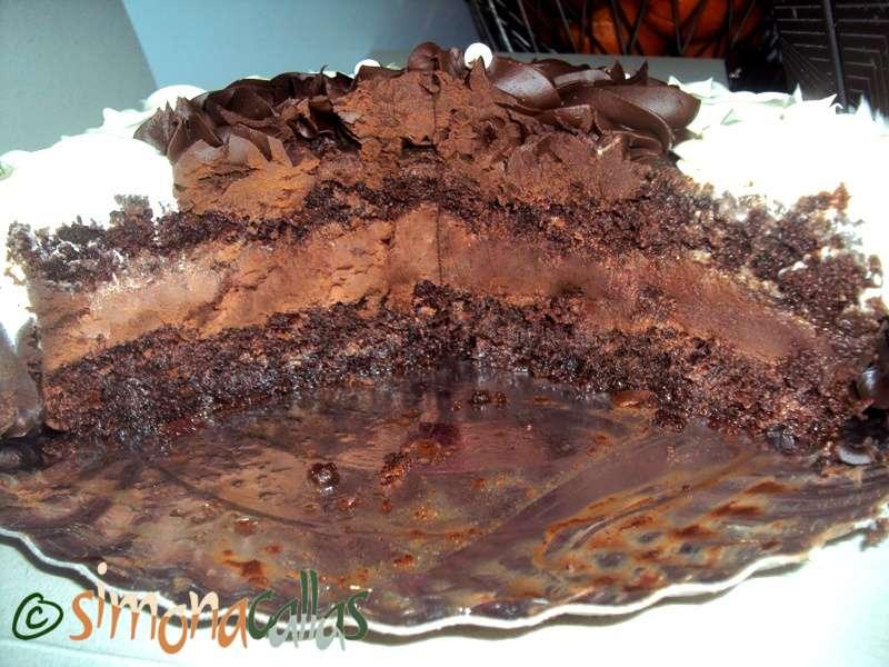 Tort cu ciocolata alba si neagra