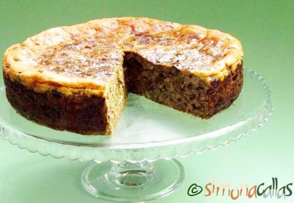 Tort aperitiv cu drob de pui