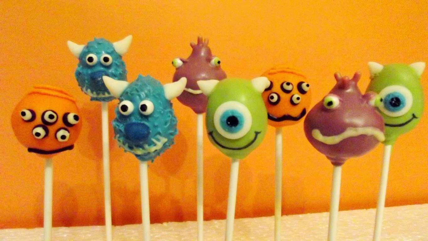 """""""Monsters University"""" Cake Pops"""