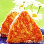 Salam de biscuiti de post cu morcovi si cocos