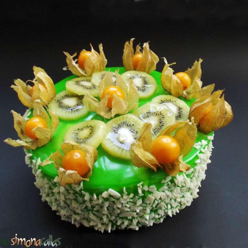Tort Exotic Green cu fructe si ciocolata