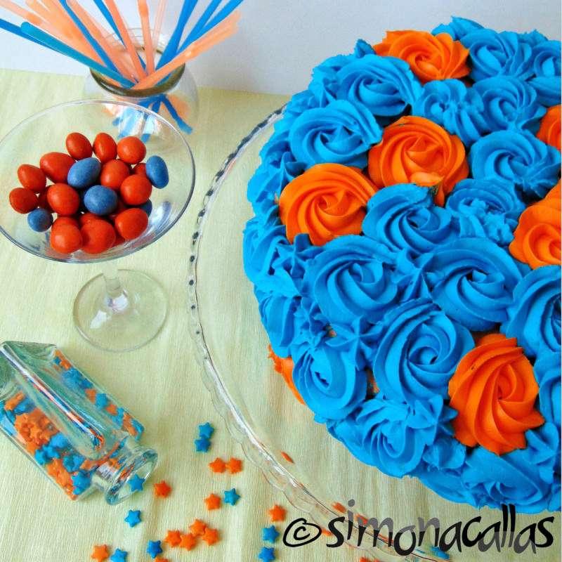 Tort Blue Hawaii cu ciocolata curacao si portocale