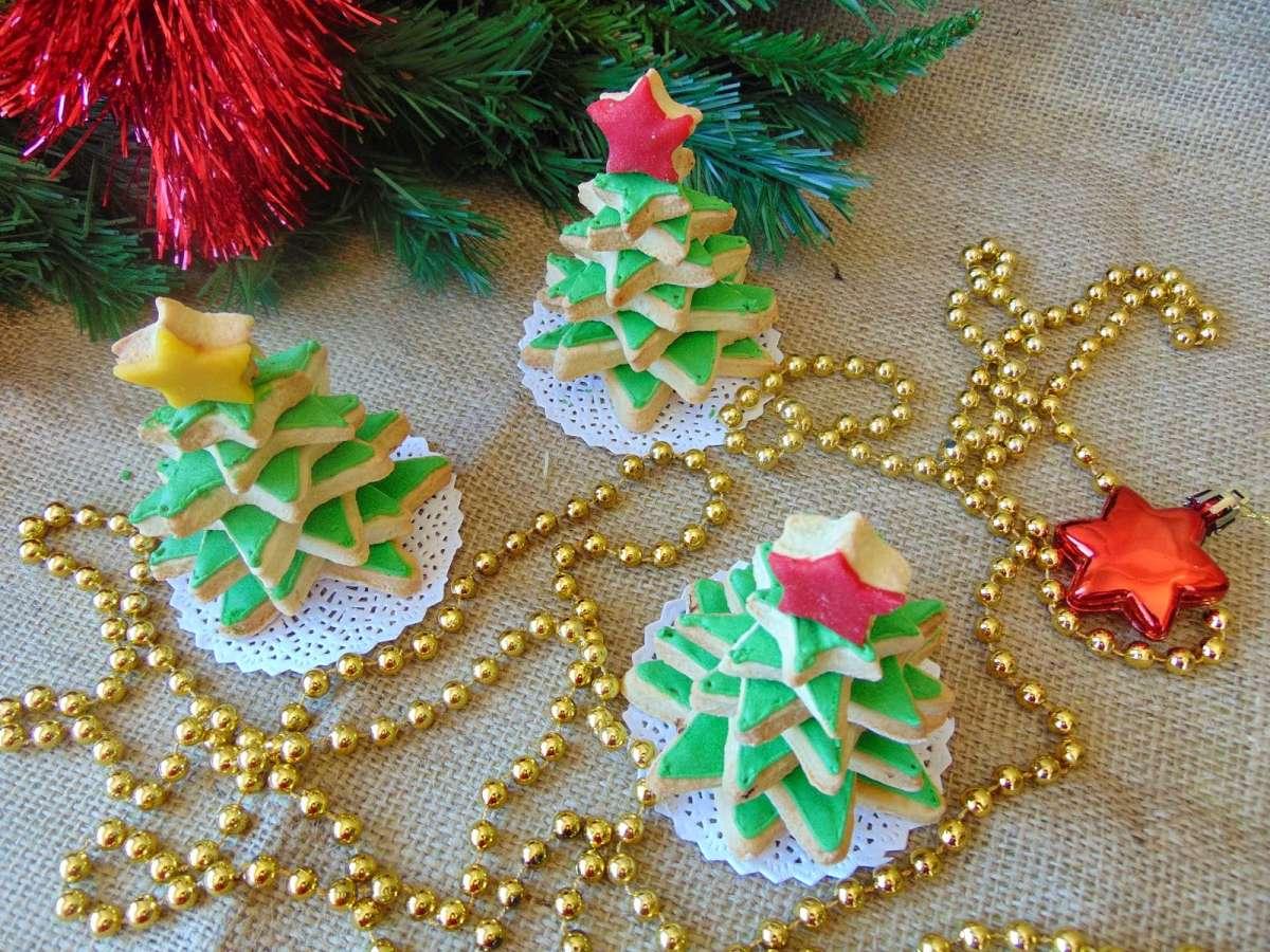 Braduti din fursecuri / 3D Christmas Tree Cookies