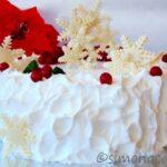 Tort de Craciun alb si rosu reteta explicata