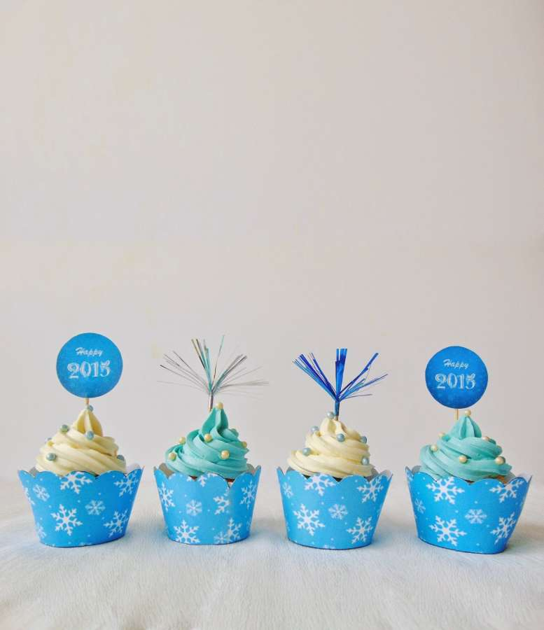 Cupcakes pentru Anul Nou / New Year's Eve Cupcakes