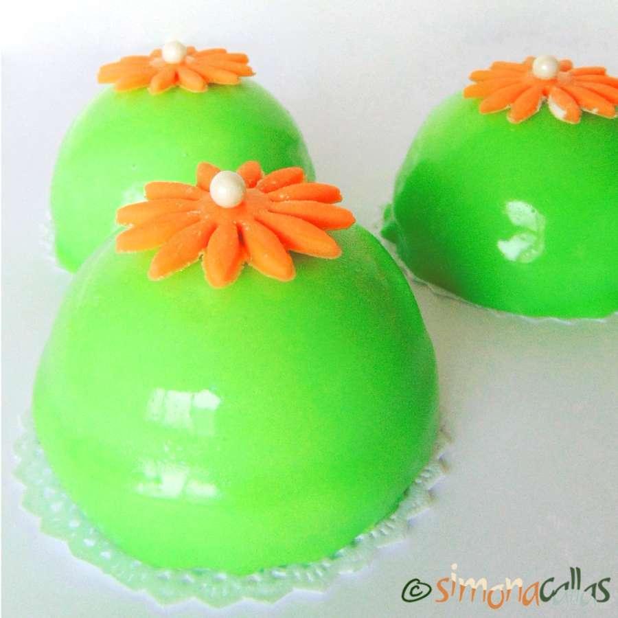 Entremet cupola cu kiwi si portocale