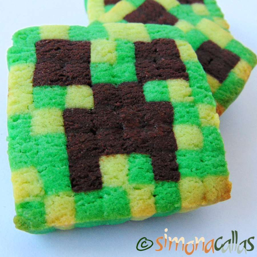 Biscuiti Minecraft fragezi si crocanti