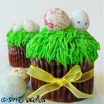 Cupcakes pentru Paste Cupcakes cu ciocolata