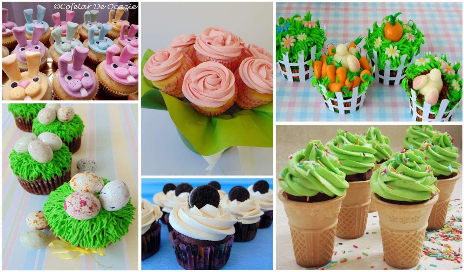 Cupcakes festive de primavara / Spring Festive Cupcakes