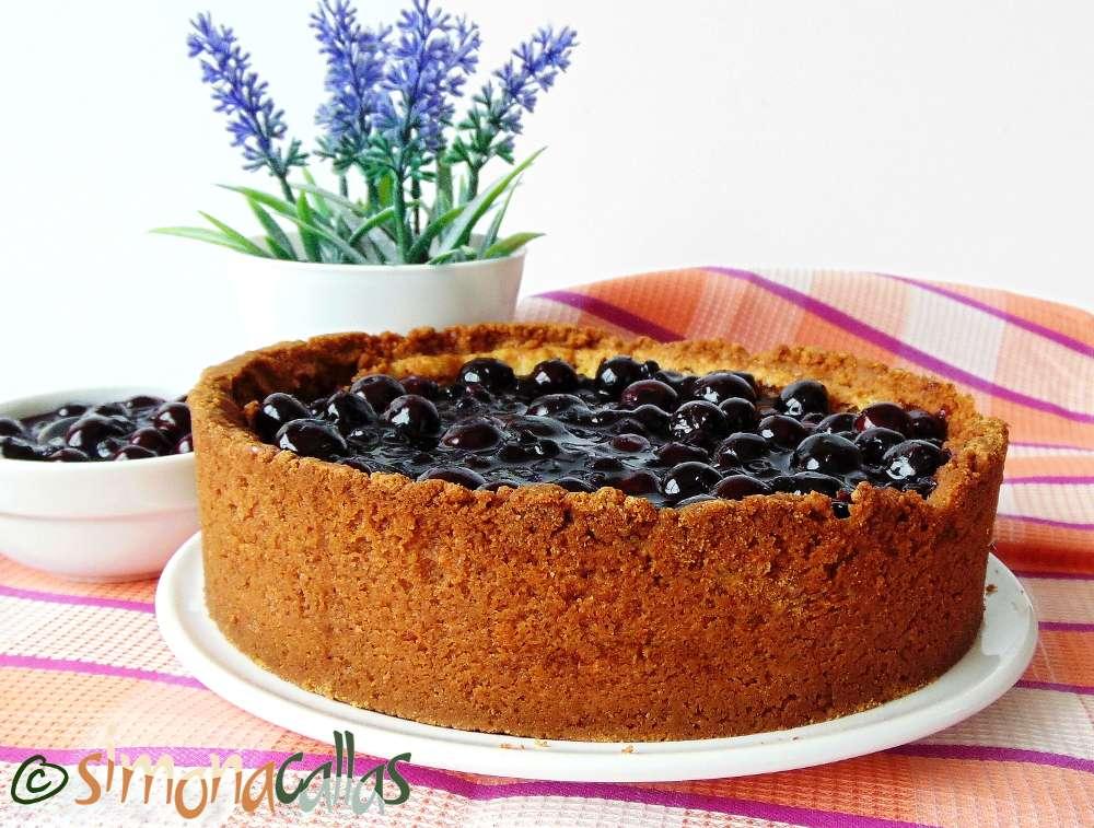 Cheesecake cu topping de afine