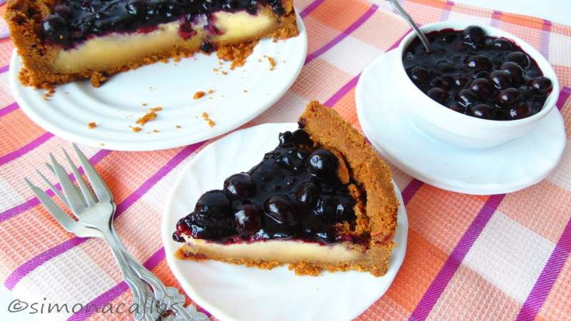 Cheesecake-with-Blueberry-Topping-3