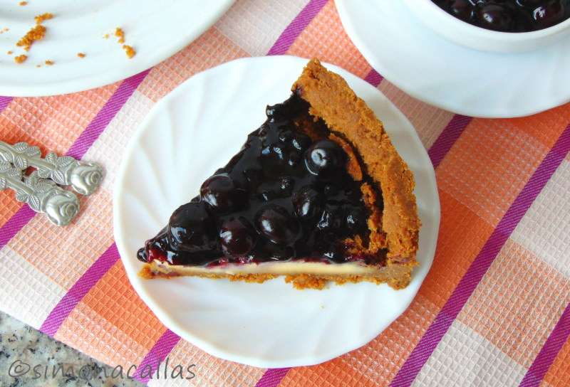 Cheesecake-with-Blueberry-Topping-4