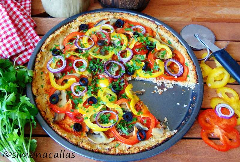 Pizza dietetica cu blat din conopida