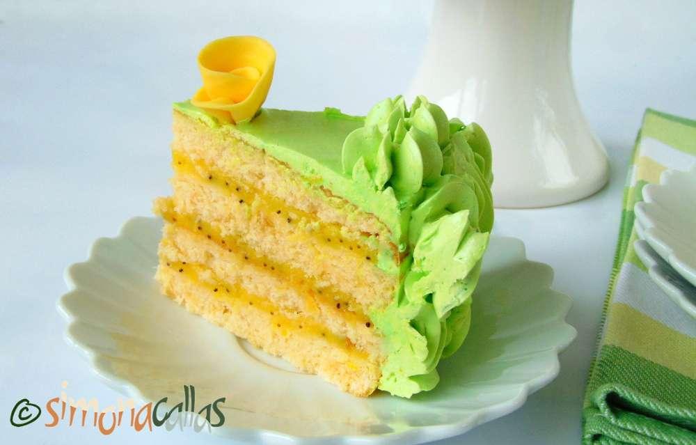 Tort festiv cu lamaie si seminte de mac