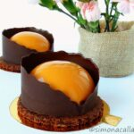 Minitorturi Entremet cu ciocolata si caramel