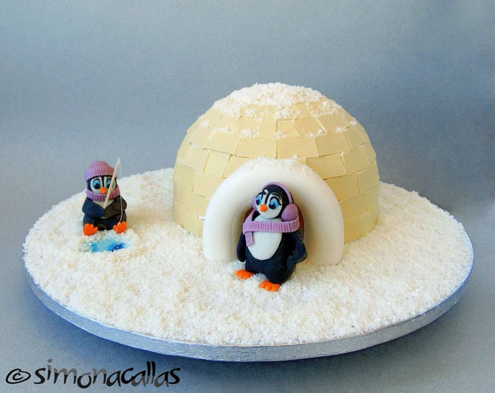 Tort Iglu si Pinguini