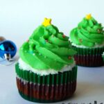 Vegan Christmas Tree Cupcakes