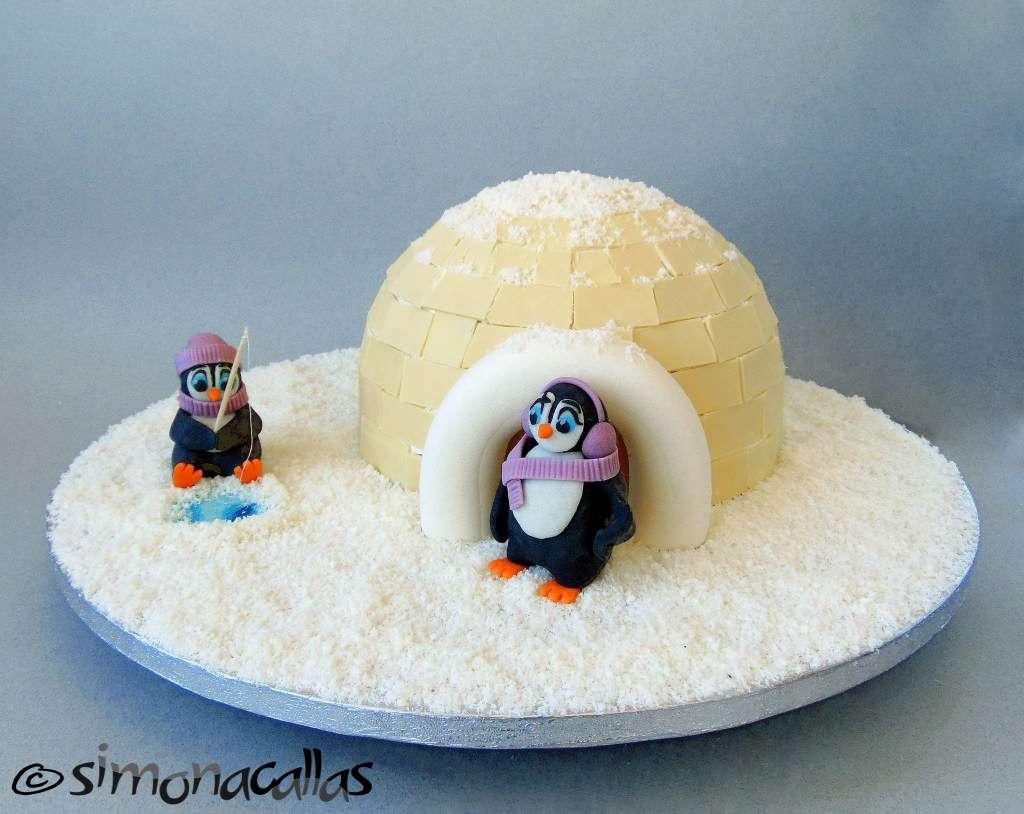 Tort Craciun Diplomat Iglu si Pinguini 1