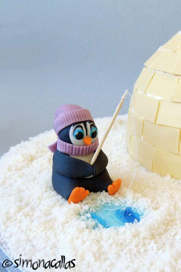Tort Craciun Diplomat Iglu si Pinguini 3