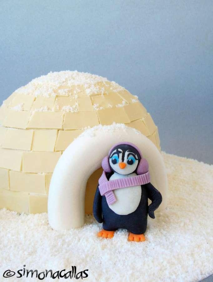 Tort Craciun Diplomat Iglu si Pinguini 4