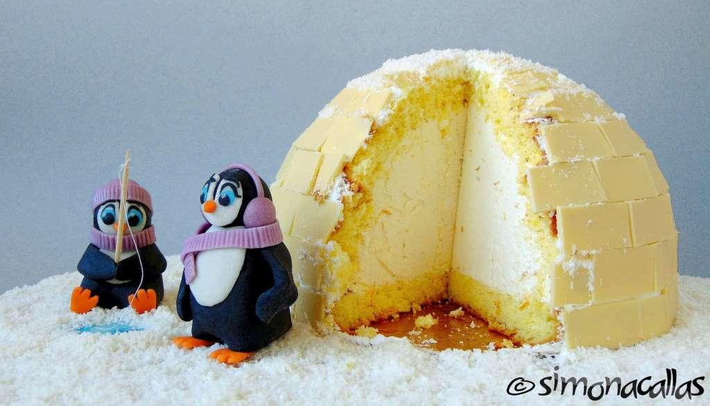 Tort Craciun Diplomat Iglu si Pinguini 5