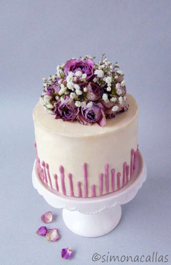 Purple Ombre Lavender Cake Simonacallas