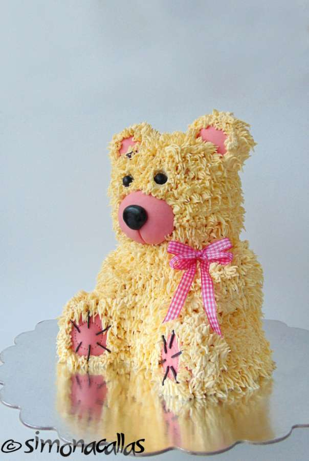 Download Teddy Bear With Cake Images : 3D Teddy Bear Cake (with tutorial) - simonacallas