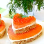 Smoked Salmon Appetizers (with ricotta and red caviar)