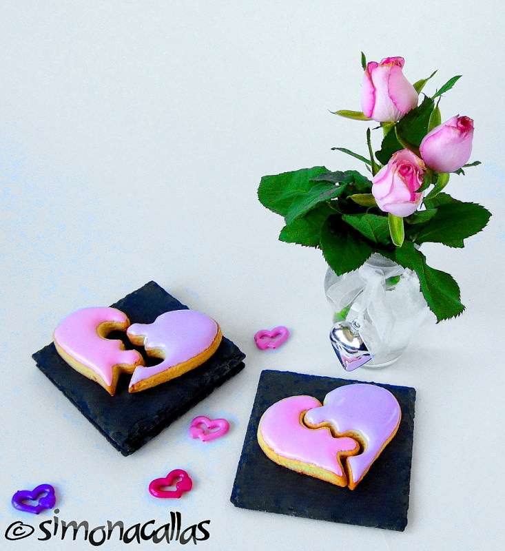 Puzzle Heart Cookies for Valentine's Day