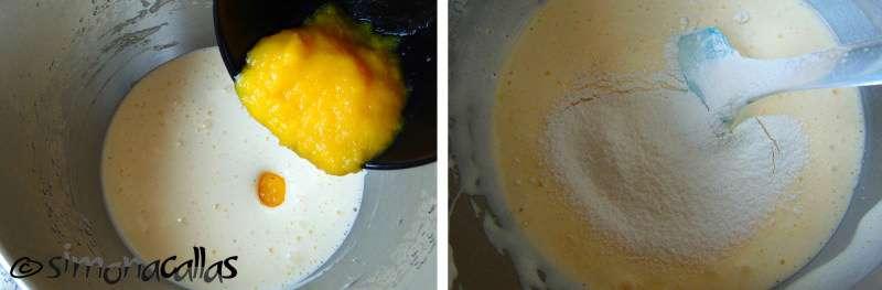 Blat de tort chec Pandispan cu mango