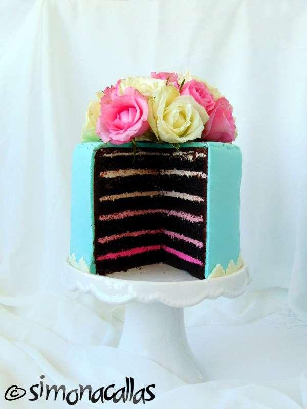 Tort-Shabby-Chic-degrade-zmeura-ciocolata-3