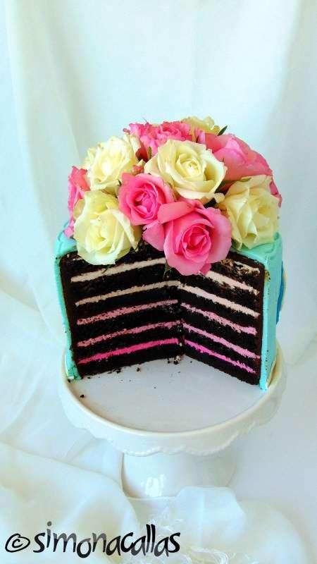 Tort-Shabby-Chic-degrade-zmeura-ciocolata