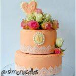 Elegant Cake with Chocolate and Cherries
