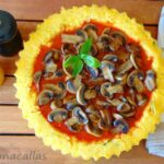 Polenta Tart with Mushrooms and Tomato Sauce