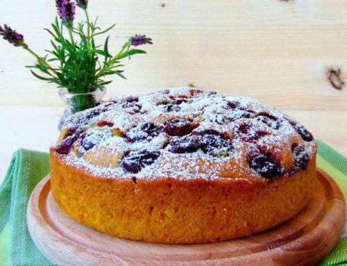 Vegan Sour Cherry Sponge Cake