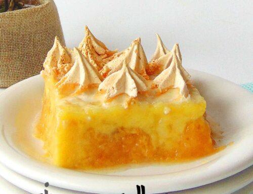 Vegan Apple Custard Meringue Dessert