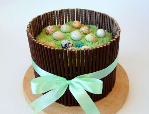 Easter Checkerboard Cake – a beautiful pink&green simphony