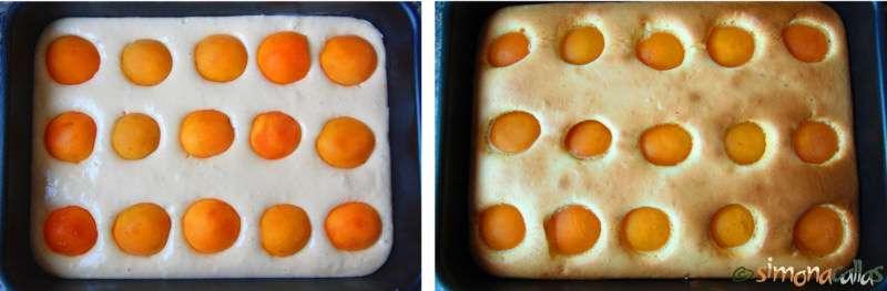 Prajitura pandispan cu caise - pandispan pufos cu fructe