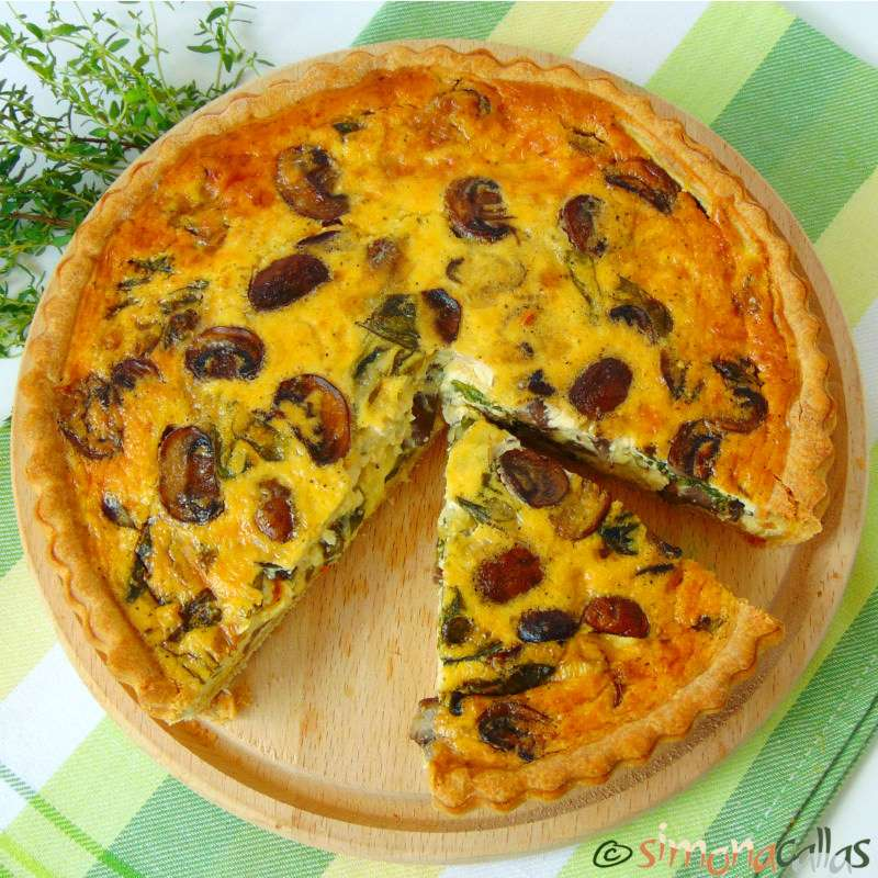 Tarta vegetariana cu spanac si ciuperci – Tarta aperitiv