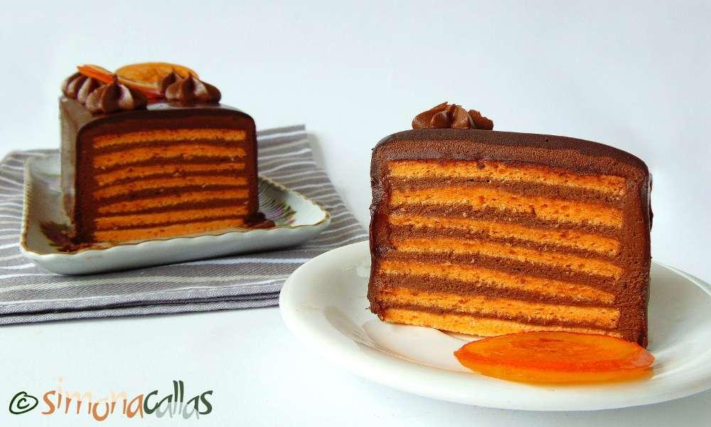 Tort Dobos cu portocale