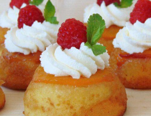 Cupcakes cocktail cu nectarine sau piersici