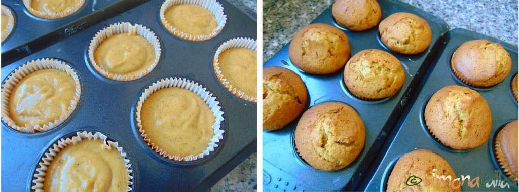 Cupcakes cu dovleac şi cremă de brânză b