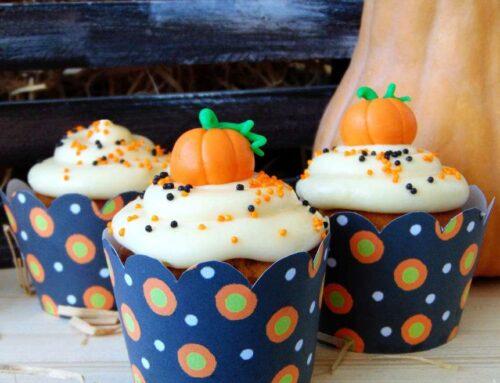 Cupcakes cu dovleac si crema de branza