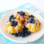 Lemon Blueberry Baby Bundt Cakes