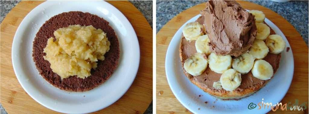 Tort Entremet cu banane si ciocolata a