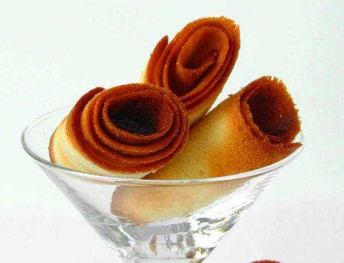 Crêpes Dentelles si Crocant pralinat de ciocolata