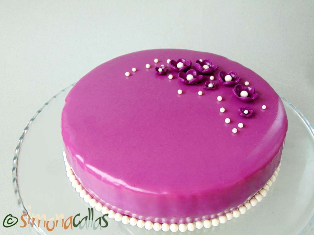 Tort Entremet cu violete si ciocolata 2