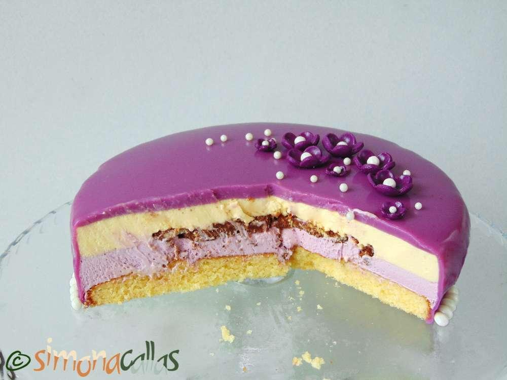 Tort Entremet cu violete si ciocolata 3