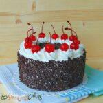 Tort Padurea Neagra de post – cu frisca, ciocolata si cirese