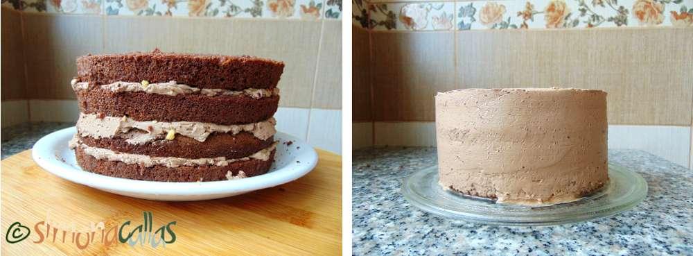 Tort simplu cu ciocolata si nuca d